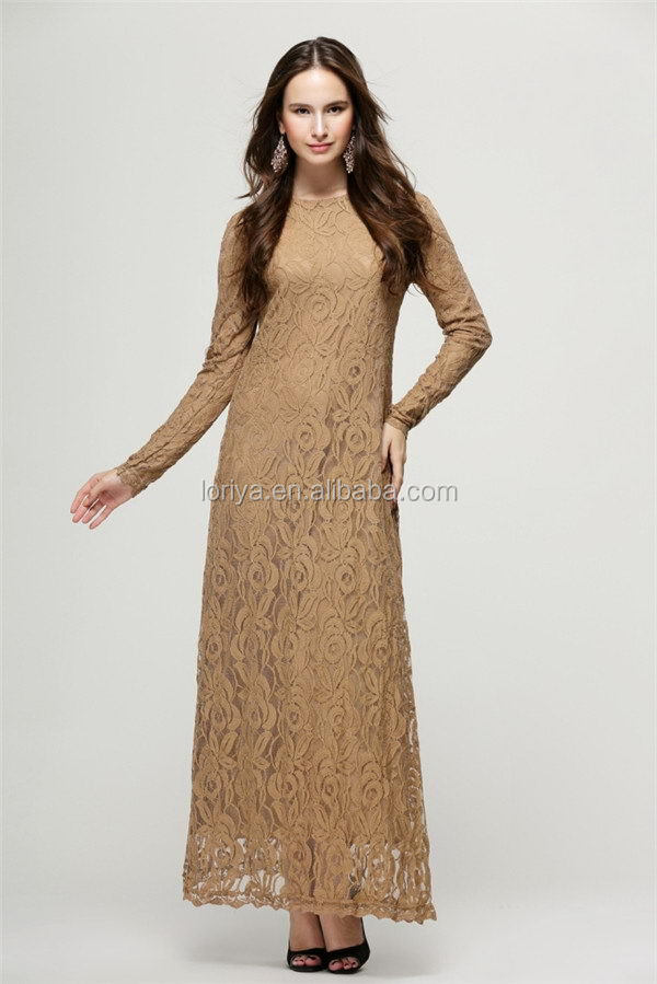 High quality chiffon long sleeve islamic dress muslim abaya for women