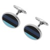 New designer oval enamel custom cufflinks