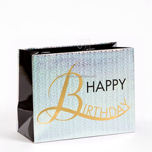 Metallic Luxe Happy Birthday Medium Gift Bag paper bags manufacturers in uae