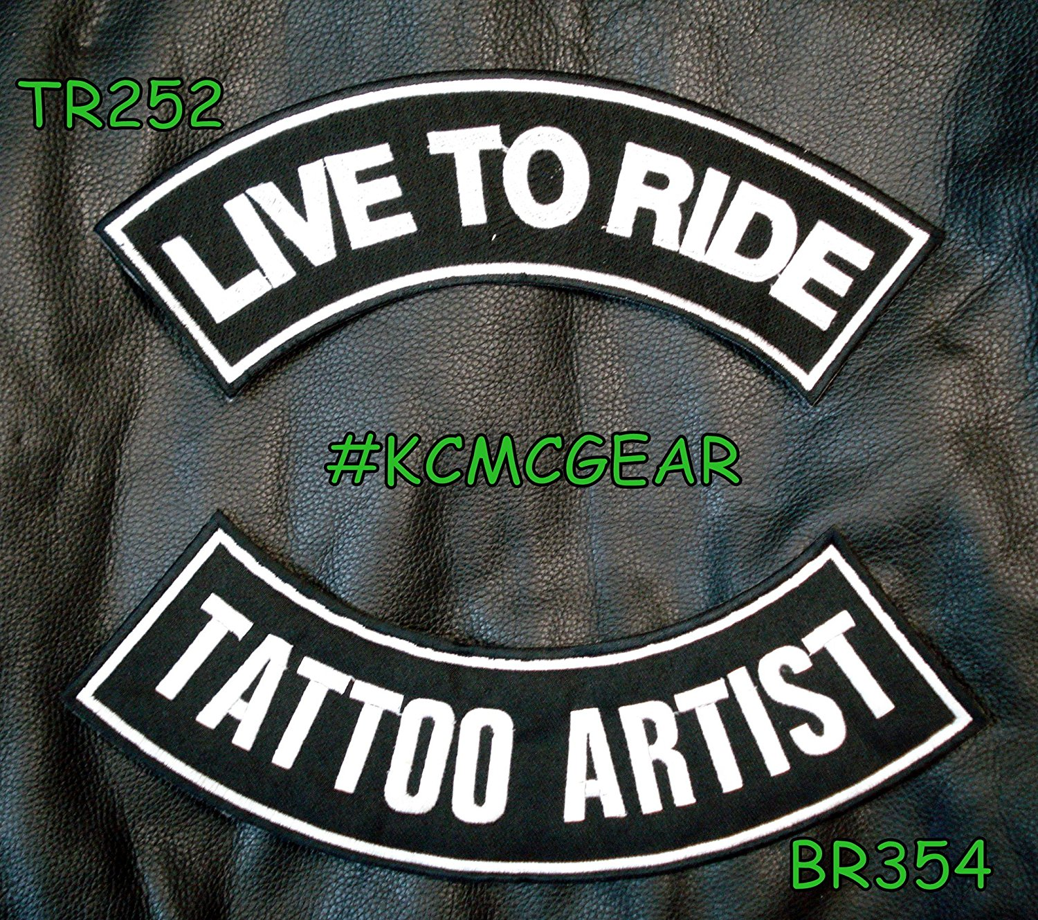Buy Live To Ride Tattoo Artist Rocker Patches Set For Biker Vest In