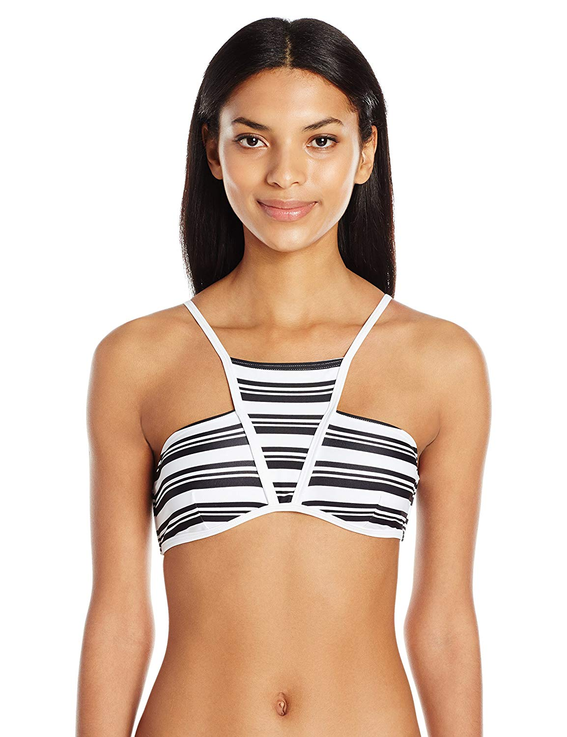 779577cb089 Get Quotations · MINKPINK Women's Show Your Stripes High Neck Bikini Top