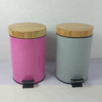 Pedal Bin Mit Bambus Deckel Buy Pedal Mulleimer Trasn Konnen Mit