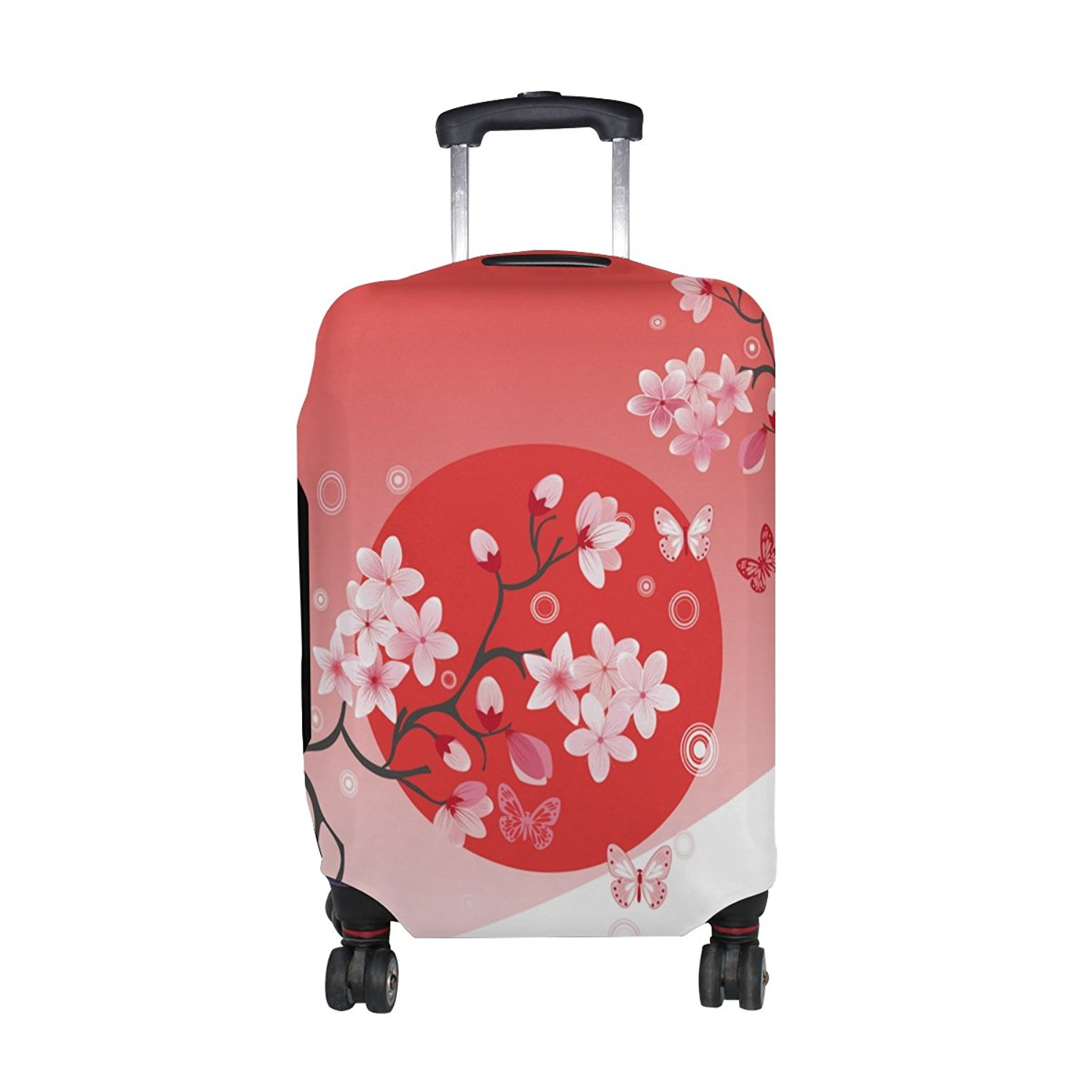 INTERESTPRINT Travel Luggage Protector Suitcase Covers Fit 18-28 Inch Cherries