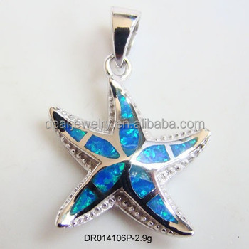 Animals star fish blue fire opal pendants for lay925 sterling animals star fish blue fire opal pendants for lay 925 sterling silver ocean opal jewelry aloadofball Image collections