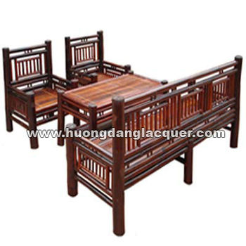 Set Tea Table & Sofa Chair Made From Vietnam Bamboo - Buy Tea Table ...
