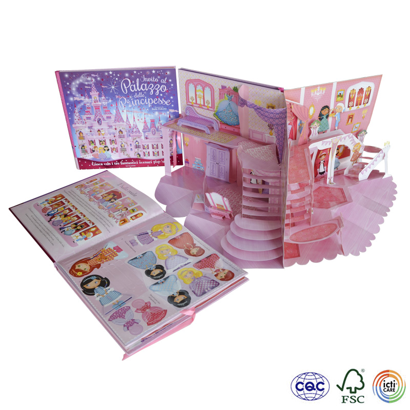 welcomed children hard cover picture pop up offset book