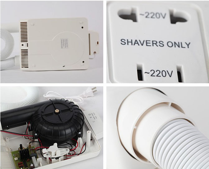 Bathroom wall mounted ABS body/ skin hair dryer for hotel household quality assurance,hair dryer housing