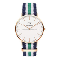 Newest good Quality Watch Japan movement Color matching Canvas watch customize my own logo quartz watch lady