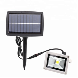 Outdoor led flood light 10W Floodlight Solar Garden lamp Spotlight Warm white