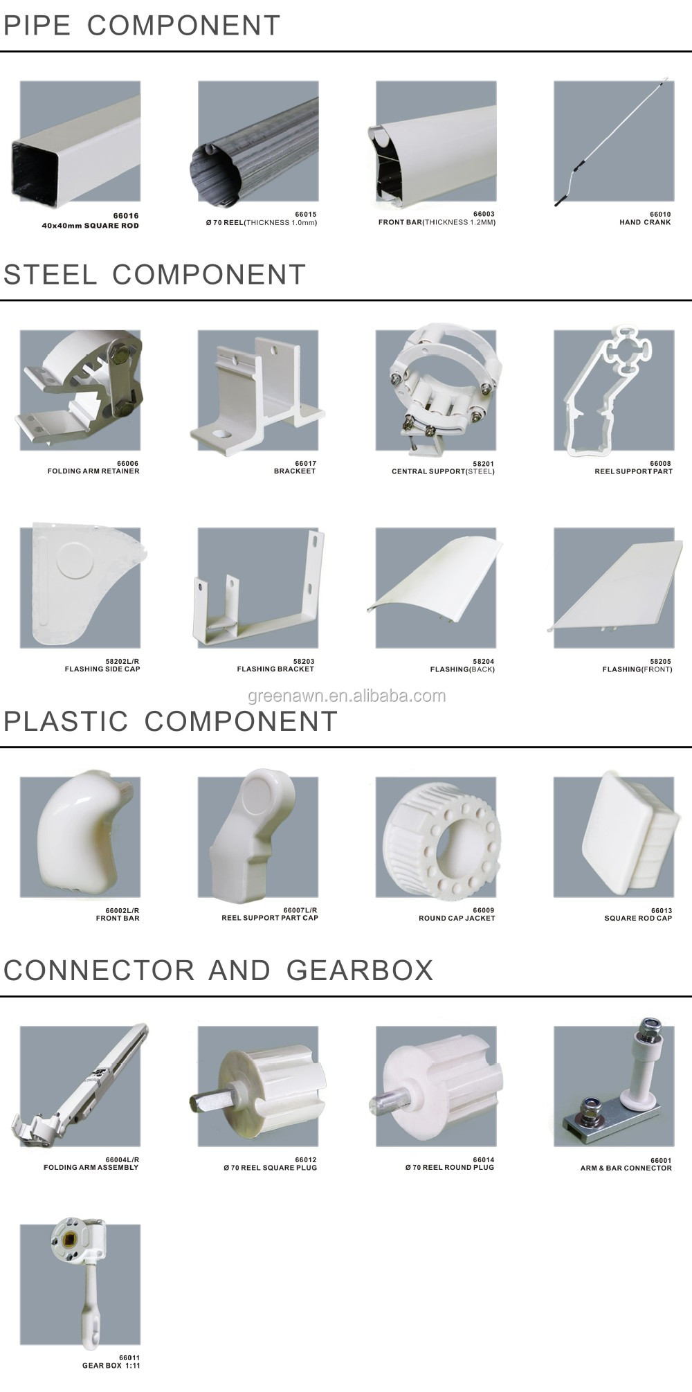 Quality Building Canopy Roll Up Awnings Aluminium Folding