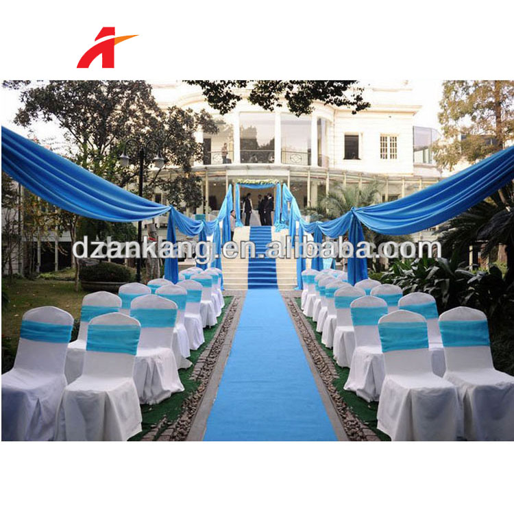 Any colors available nonwoven needle punch carpet wedding plain exhibition carpets