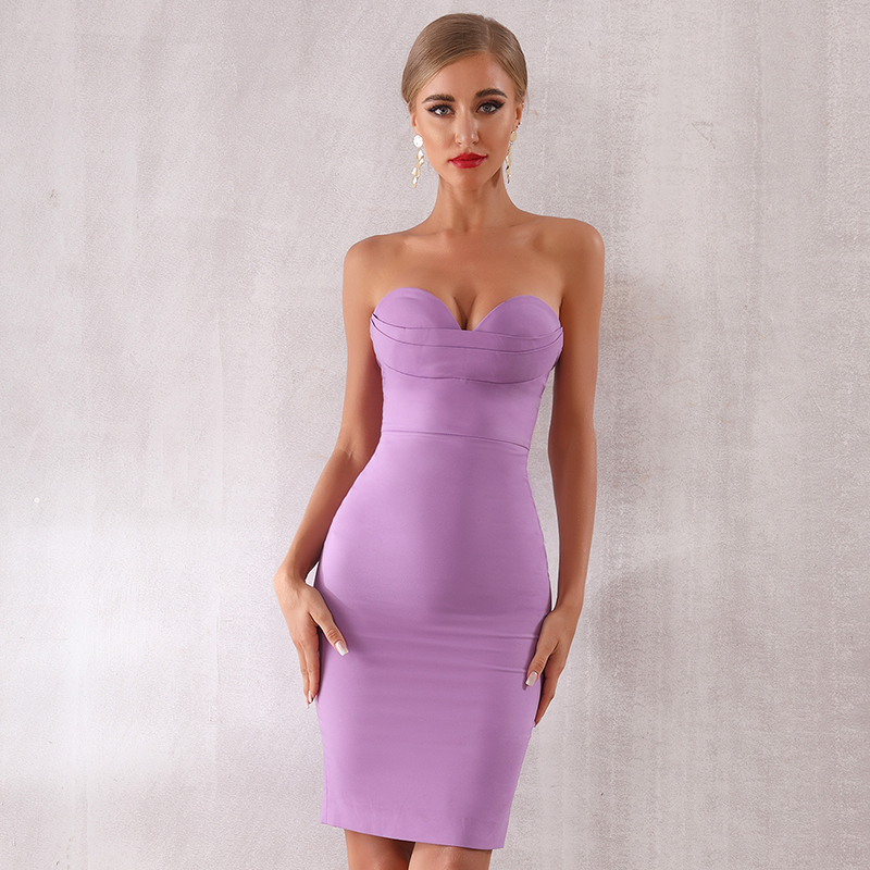 d8a01af194cf Venta al por mayor vestido de fiesta violeta-Compre online los ...