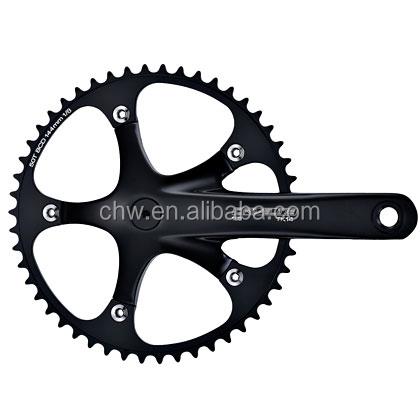 Fixed gear Single Speed Track Cranks Crankset 165mm 44t Silver