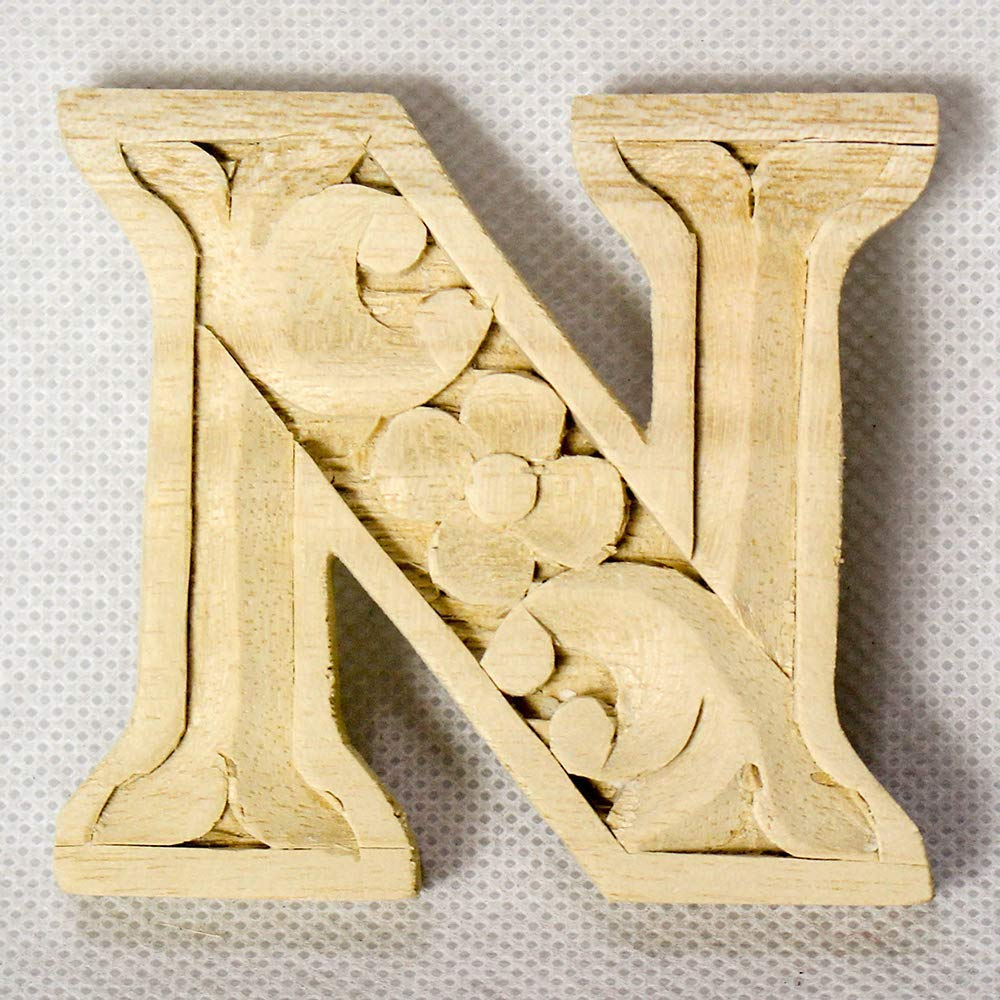 Wooden alphabet letters home decor DIY woodden letters wood carving wooden unfinished wooden letters paint unfinished wall decoration craft silhouette 6cm 9cm 15cm 2.36in 3.54in 5.9in N