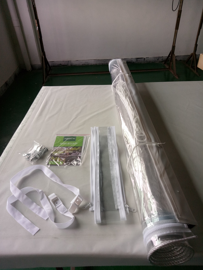 Outdoor blind PVC transparante roller blind voor tuin patio