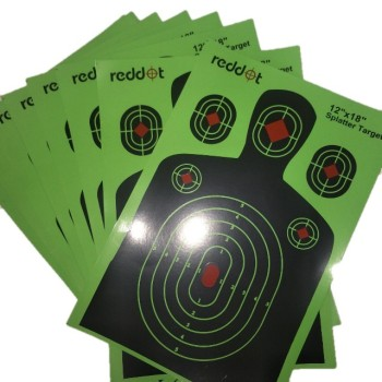 Splatter Shooting Target  with Special Paper Made  for Shooting  game