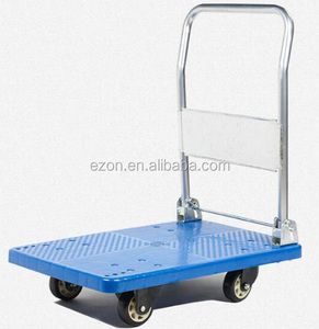 Portable Folding platform hand truck/Warehouse plastic folding platform hand trolley/Heavy duty platform hand carry cart