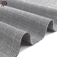New design plaid fabric 58% Cotton 38% Rayon 4% Spandex Stretch Fabric for women pants or suits