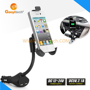 2015 Gadgets 360 Degree Rotation china wholesale jaws flex clamp mount phone holder clamp China car holder with charging (HC84)