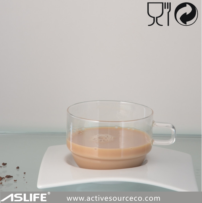 Glass Cup&s/s Saucer Or Ceramic Saucer! High Borosilicate Glass ...