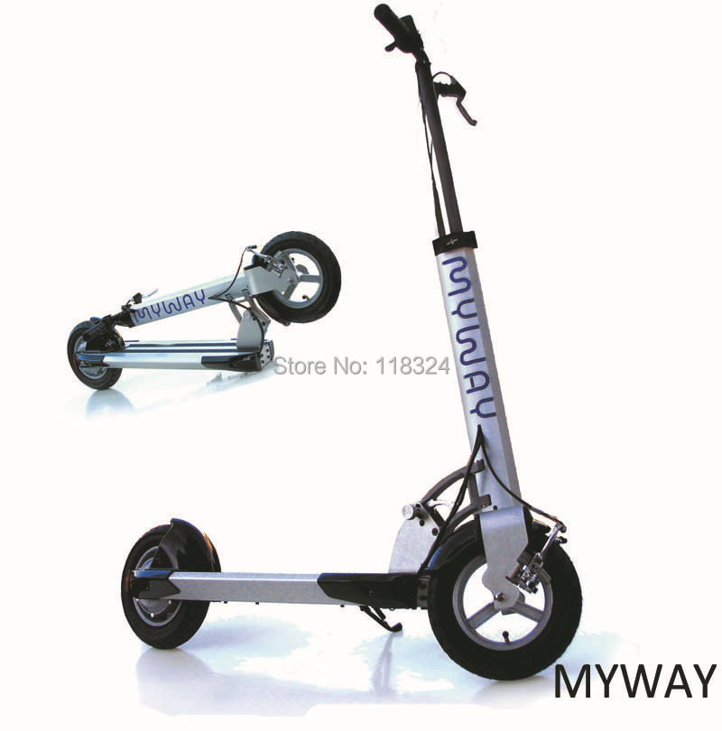 free shipping real myway electric scooter folding bike. Black Bedroom Furniture Sets. Home Design Ideas