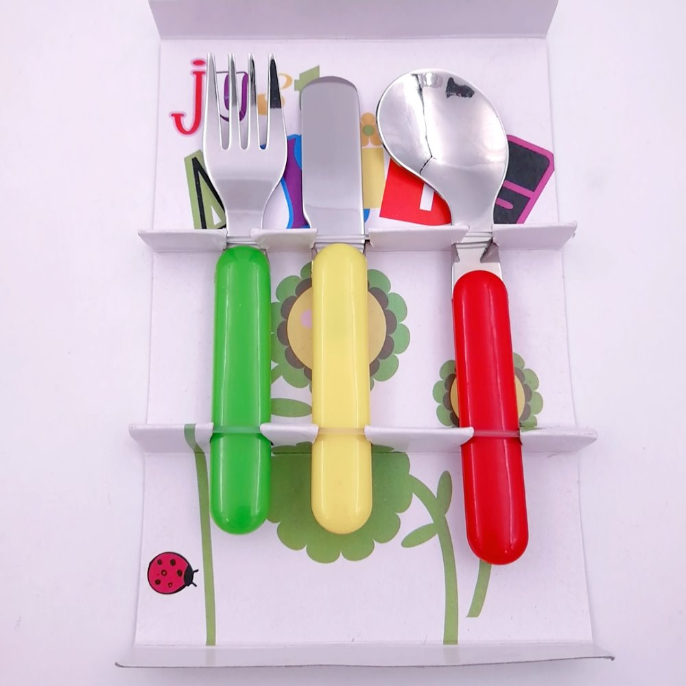 easy using for baby spoon fork knife with color box