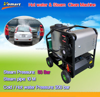 200bar hot water/steam car washer for heavy dirty cleaning,steam clean auto interior