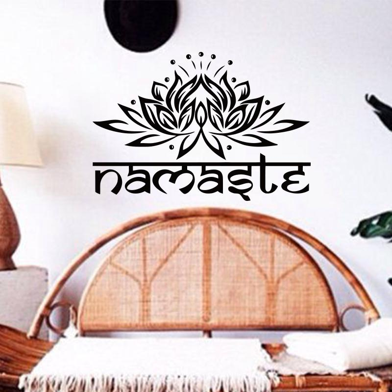 art design indian namaste words religion wall decal vinyl wall sticker for living rooms wall stickers for living room uk
