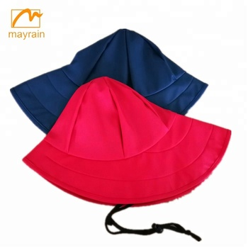 Adult Womens PU Rain Hat