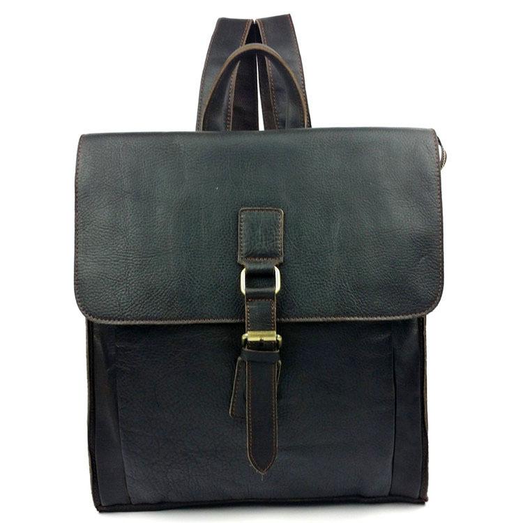 c9f1d15e9ad Get Quotations · luxury men leather backpack Japan vintage design Full  Grain Leather postman bag men travel bags school