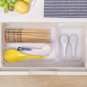 Knife and fork container plastic basket tableware storage box
