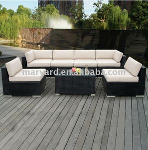 Plastic garden rattan & wicker sofa set