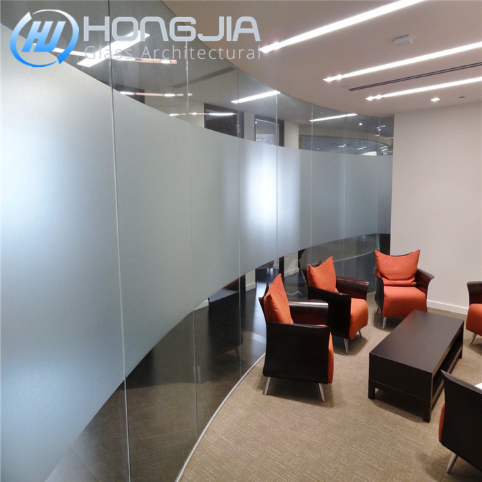 For building office interior tempered frosted glass door