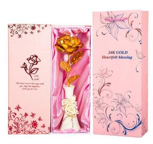 Artifical rose flower golden rose 24k for Valentine day gift