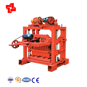 QTJ4-40 Concrete Block Molding Processing and New Condition hollow block making machine
