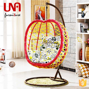 Una hanging chair swing pod swingasan hanging chair with stand egg apple chair cheap model