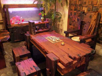 ship wood furniture. Antique Style Old Ship Solid Reclaimed Wood Dining Table Home Decoration Furniture