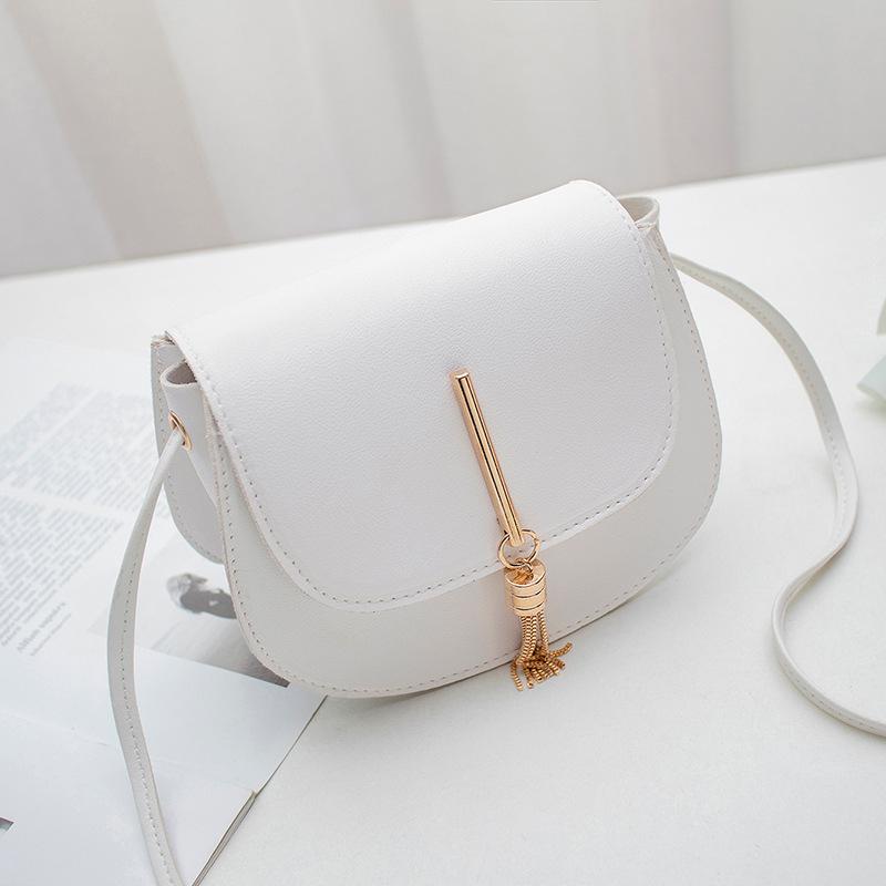 Популярная стильная женская сумка-слинг с откидной кисточкой, украшенная сумка через плечо, Женская разноцветная сумка через плечо