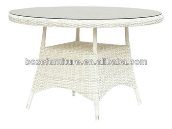 White Wicker Round Dining Table White Wicker Garden Table   Buy White  Wicker Dining Table,Wicker Garden Table,Round Wicker Coffee Table Product  On ...