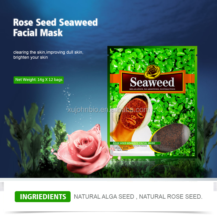 Mond'sub rose weed and seaweed face mask for blackhead remover