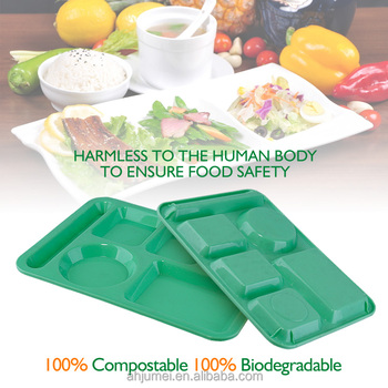 Eco Friendly Food Contact Grade 5-compartment Disposable Plastic ...