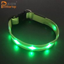 Super Bright Flashing Blinking S M L Safety Visibility Micro USB Rechargeable Led Pet Dog Collar