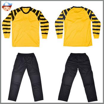 ac30f9add78f1 Barato niños portero de fútbol jersey niños ropa portero uniforme de fútbol  venta al por mayor