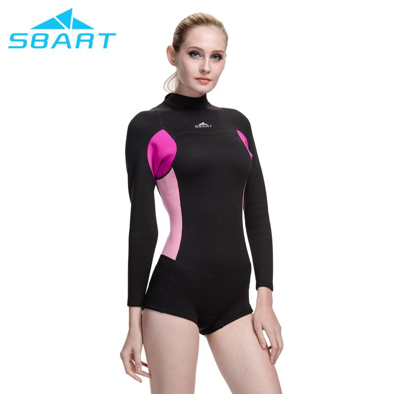 Sbart nuevo estilo neopreno traje de neopreno mujeres 2mm surf una pieza de  natación snorkel buceo fa4d92b492b