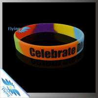 Promotion gifts printing logo silicone wristband