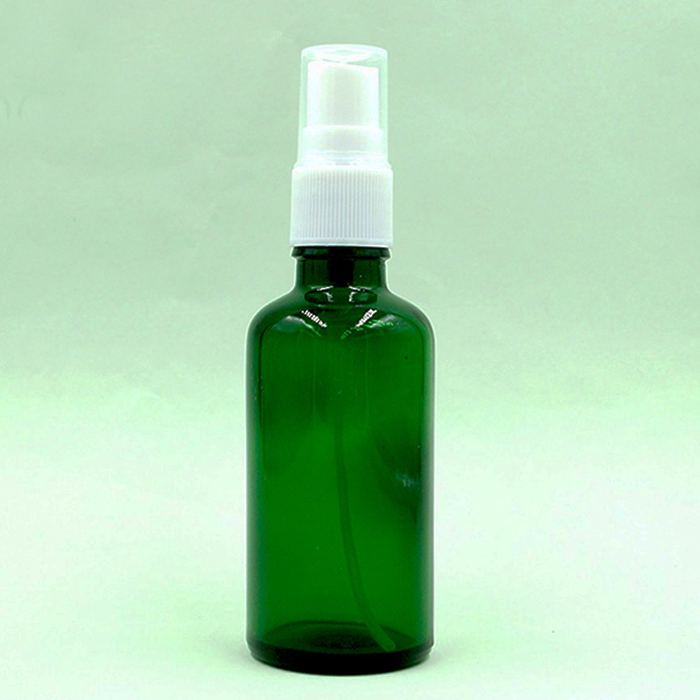 Green glass <strong>spray</strong> bottles 100ml with plastic <strong>spray</strong> top
