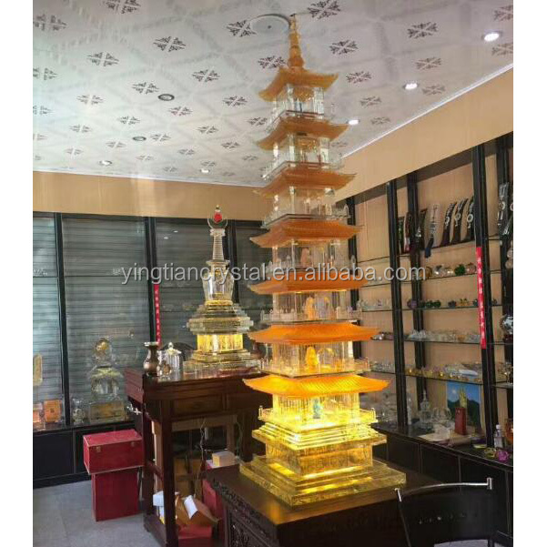 Top quality 3d crystal tower model