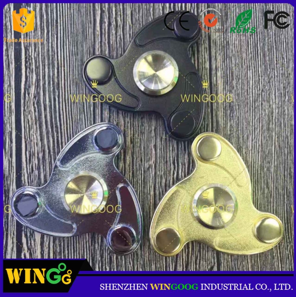 new product zinc alloy edc fidget spinner anti stress spinner toys