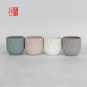 100pcs/carton , small order support unique coloured clay garden plant pots