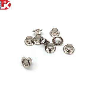 China hardware factory high quality stainless steel curtain eyelet of nickel colors